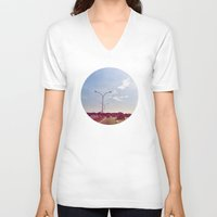 road V-neck T-shirts featuring Road by Gasoline Rainbow