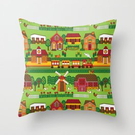 Around Town Natural Throw Pillow