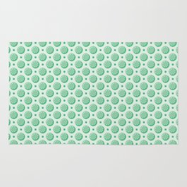 Green Lime Slices Pattern Rug