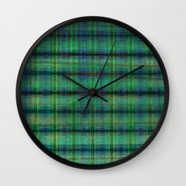 Forest Straw Plaid On Frozen Lake Wall Clock