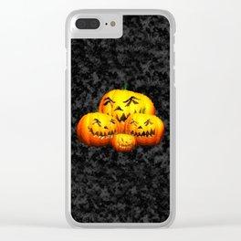 Cute Pumpkin Family Clear iPhone Case