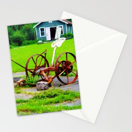 Tractor Wheel Stationery Cards