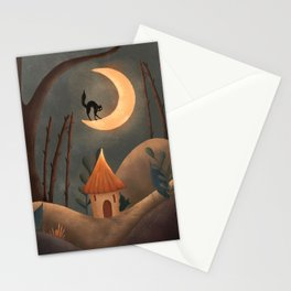 Moonlight Cat Stationery Cards