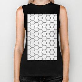 Honeycomb Black #378 Biker Tank