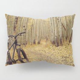 Golden Aspen Mountain Biking Pillow Sham