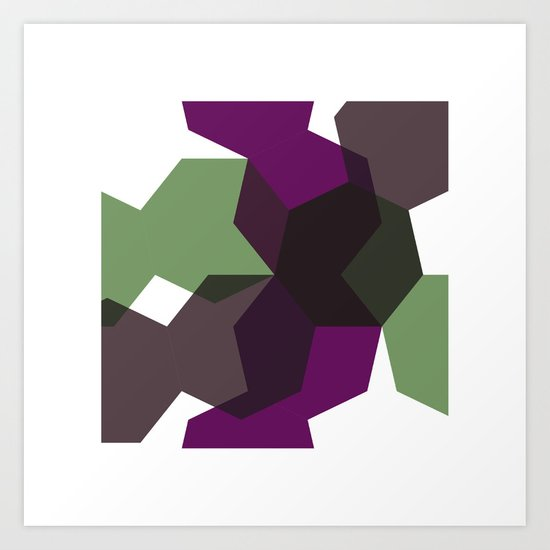 #365 Clash of heptagons – Geometry Daily Art Print