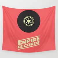 records Wall Tapestries featuring Empire Records by mattranzetta