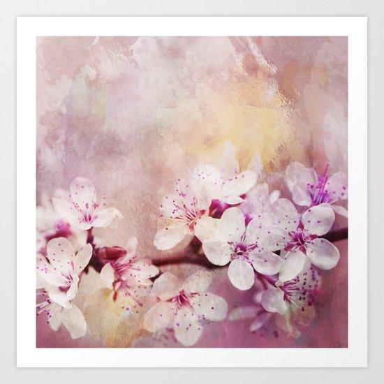 Pink Pastel Cherry Blossom Sakura Art Print