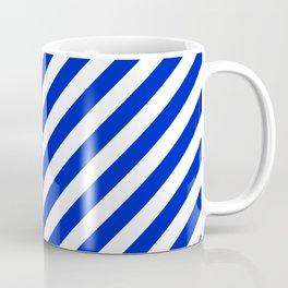 Cobalt Blue and White Wide Candy Cane Stripe Coffee Mug