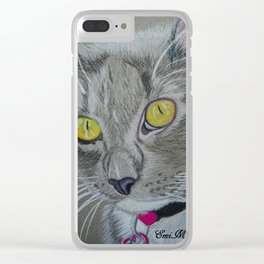 Basil-The Beautiful Russian Blue Clear iPhone Case