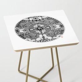 deer mandala Side Table