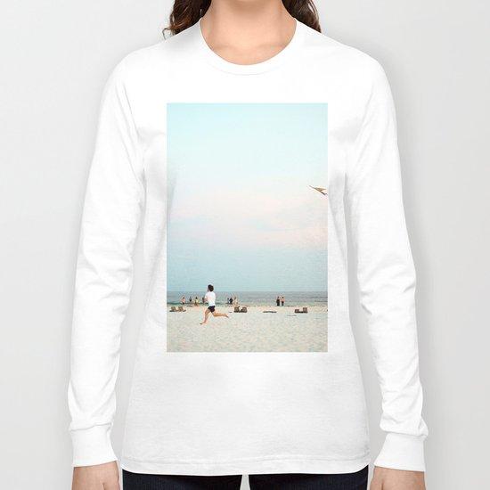 Running Beach Long Sleeve T-shirt