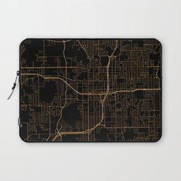 Black and gold Orlando map Laptop Sleeve