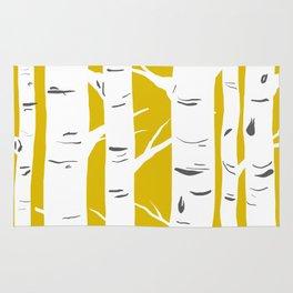 Mustard Birches Rug
