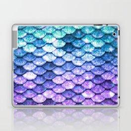 Mermaid Ombre Sparkle Teal Blue Purple Laptop & iPad Skin