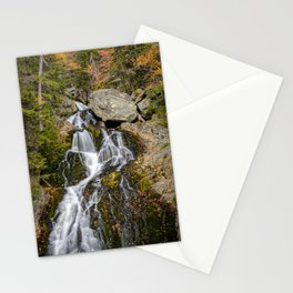 Crystal Cascades Autumn New Hampshire Waterfall White Mountains New England Landscape Stationery Cards