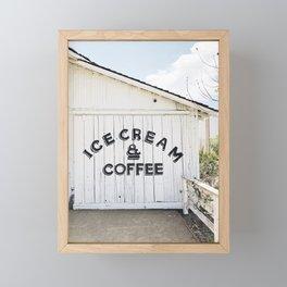 Ice Cream & Coffee Framed Mini Art Print