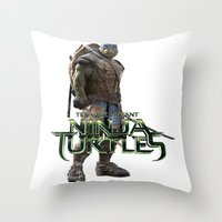 ninja turtle Throw Pillows featuring ninja,turtle by ira gora