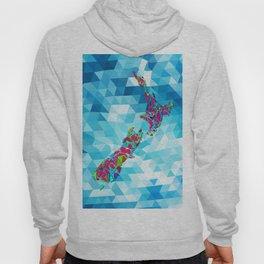 New Zealand Map : Geometric Hoody