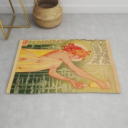 Classic French art nouveau Absinthe Robette Rug