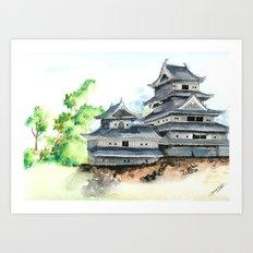 Matsumoto Fortress Art Print