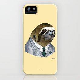 Sloth print iPhone Case
