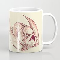 smaug Mugs featuring Baby Smaug - Paper version by Kinsei