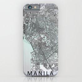 Manila, Philippines, White, City, Map iPhone Case
