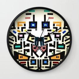 Colorful City Disorganitzation Wall Clock