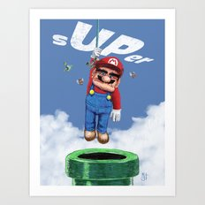UP from the pipe Art Print