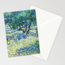 Olive Orchard (1889) by Vincent van Gogh Stationery Cards