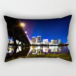 RVA Skyline at Night Rectangular Pillow