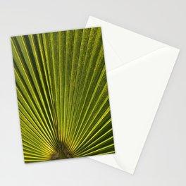 Green Plam Leaf Stationery Cards