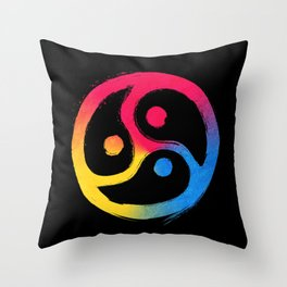 BDSM Triskelion Pansexual Pride Throw Pillow
