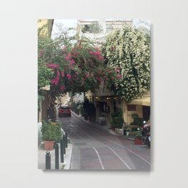 Streets of Athens, Greece  Metal Print