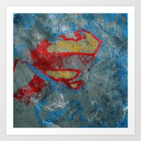 superman Art Prints featuring Superman by Fernando Vieira
