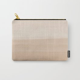 Touching Warm Beige Watercolor Abstract #1 #painting #decor #art #society6 Carry-All Pouch