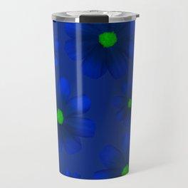 Blue Flowers Beautiful Pattern Travel Mug
