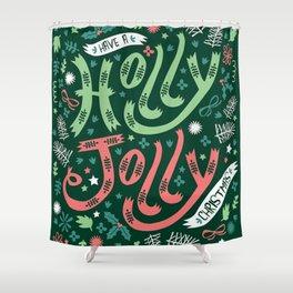 Holly Jolly - Christmas Shower Curtain