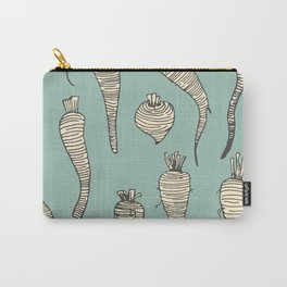 Parsnips Line Drawing Illustration Mint Carry-All Pouch