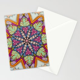 Freedom Mandala - מנדלה חופש Stationery Cards