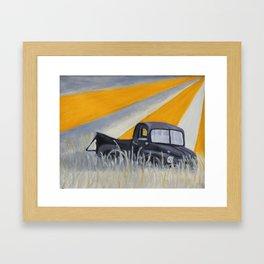 Forgotten America Truck Framed Art Print