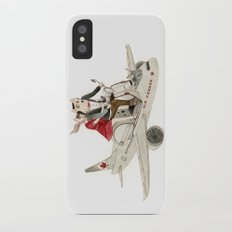 Cat and Wolf hit the road iPhone X Slim Case