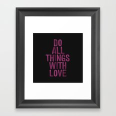 PINK Quote Framed Art Print