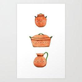 Mexican clay pots Art Print