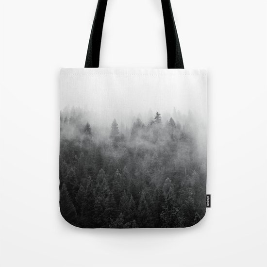Black and White Mist Tote Bag