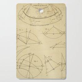 Jérôme Lalande's Astronomie (1771) - Geometric Calculations regarding Planetary Bodies 12 Cutting Board