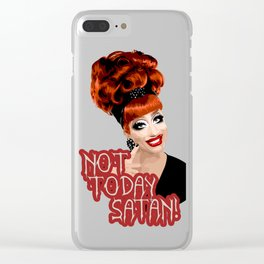 'Not Today Satan!' Bianca Del Rio, RuPaul's Drag Race Queen Clear iPhone Case