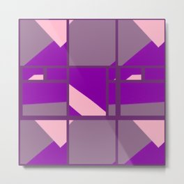 Bridge of Patterns in Pink, Purple and Mauve Metal Print