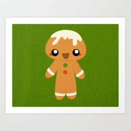 Christmas Card - Gingerbread Kid Art Print